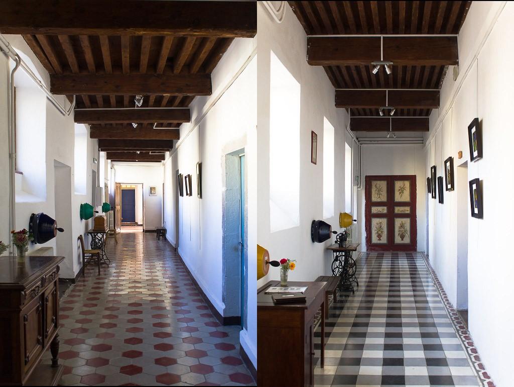 couloirs du monastère de sainte croix