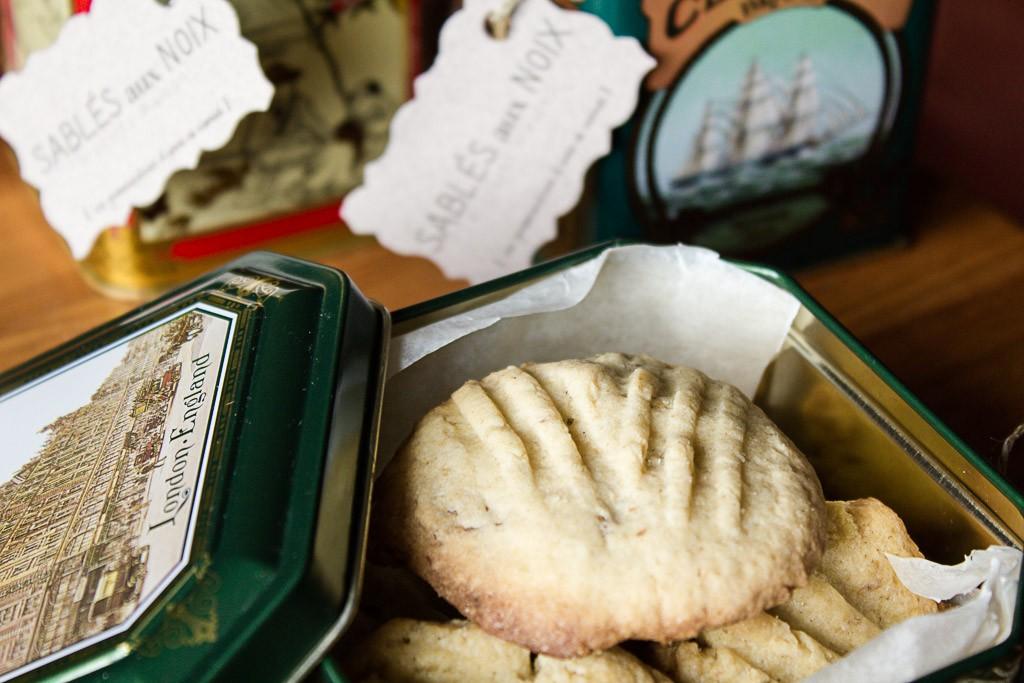 sablés aux noix pour le marché de noel