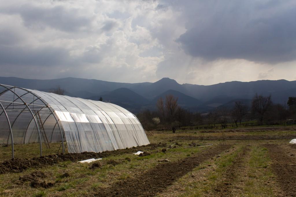 serre agricole en moyenne montagne